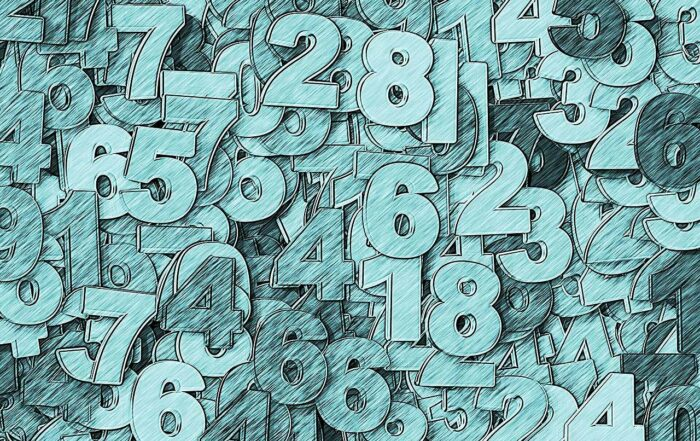 Various numbers against a light background