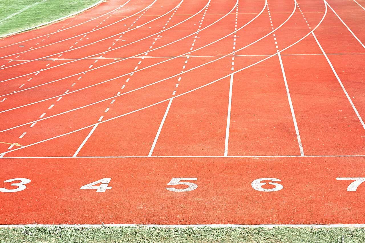 Running track with number in stadium